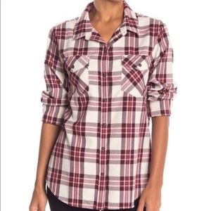 Sanctuary Tomboy Plaid Shirt Brand New